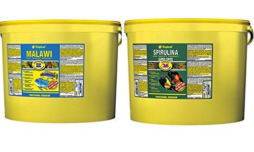 Tropical Spirulina Forte 36% Flocks Economy Pack 11 L + Tropical Malawi Flake 11 L