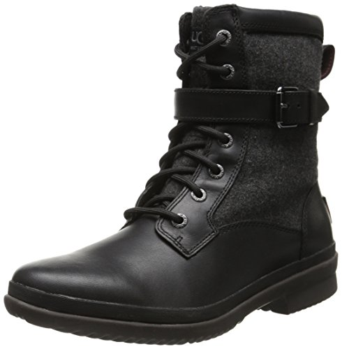 UGG Women's Kesey Boot, Black, 8 B US (Ugg Leather Boots)