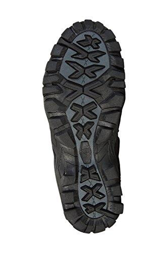 Mountain Warehouse Curlews Wasserfeste Schuhe Für Kinder - Obermaterial Wildleder und Netzstoff, Atmungsaktiv, Sommerwanderschuhe, Schnelltrocknend - Für Reisen, Laufen Grau