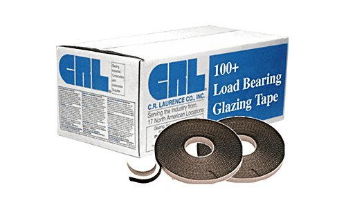 CRL Black 3/16'' x 3/8'' 100+ Load Bearing Butyl Architectural Glazing Tape by CR Laurence