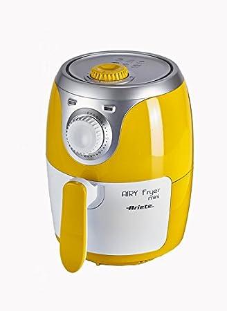 Ariete 4615 - Mini freidora saludable Airy, sin aceite, temporizador, amarillo y blanco: Amazon.es: Hogar