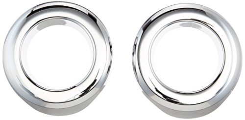 Putco 400508 Chrome Fog Lamp Overlay and Ring Trim for Select Jeep Models (Putco Jeep Trim Cover)