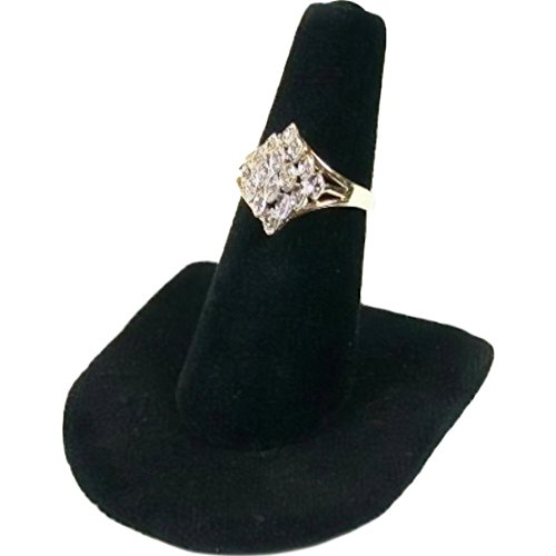 Display Jewelry Showcase Stands - Black Velvet Ring Finger Jewelry Holder Showcase Display Stand
