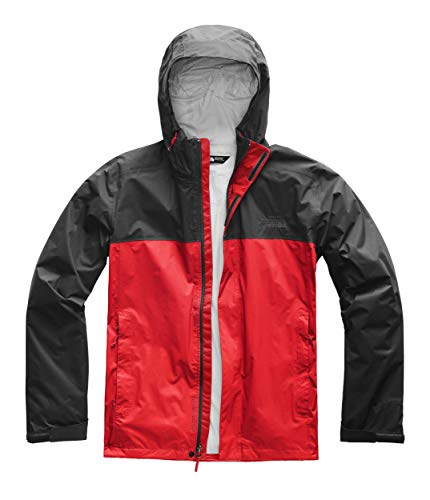 (The North Face Men's Venture 2 Jacket, Fiery Red/Asphalt Grey, Size L)