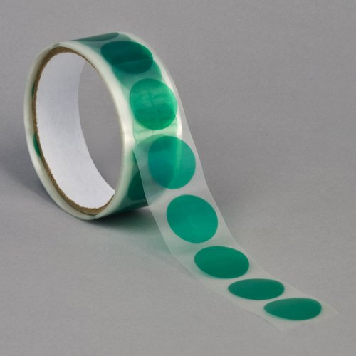 3M 8992 Green Polyester Film Tape, 1.5'' Diameter Circles (pack of 100) by 3M
