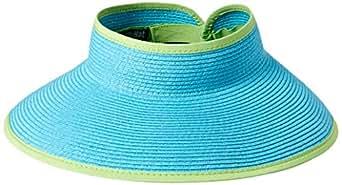 San Diego Hat Company Womens UBV002 Ultrabraid Visor with Ribbon Binding, and Sweatband Visor - Green - One Size