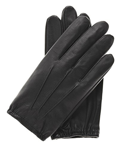 Black Driving Gloves - Pratt and Hart Men's Thin Unlined Police Search Duty Gloves Size L Color Black