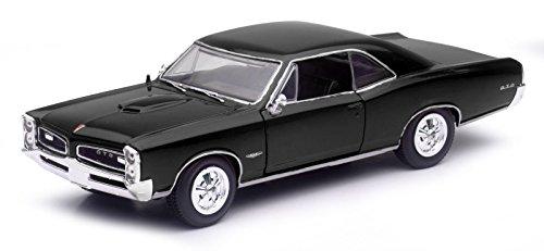 1966 Pontiac GTO Black 1/25 by New Ray 71853 B (Gto Model Car)