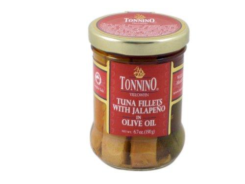 Tonnino Tuna Tuna Filet With Jalapenos, 6.7 oz (Tonnino Tuna Fillets)