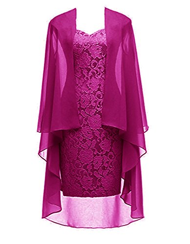 famous designer brand popular brand yet not vulgar Ruiyuhong Women's Short Lace Mother of The Bride Dress with Jacket Formal  Gowns
