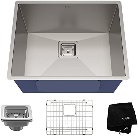 Kraus Pax 22 1 2 Inch 16 Gauge Undermount Single Bowl Stainless Steel Kitchen Sink Khu23 Amazon Com