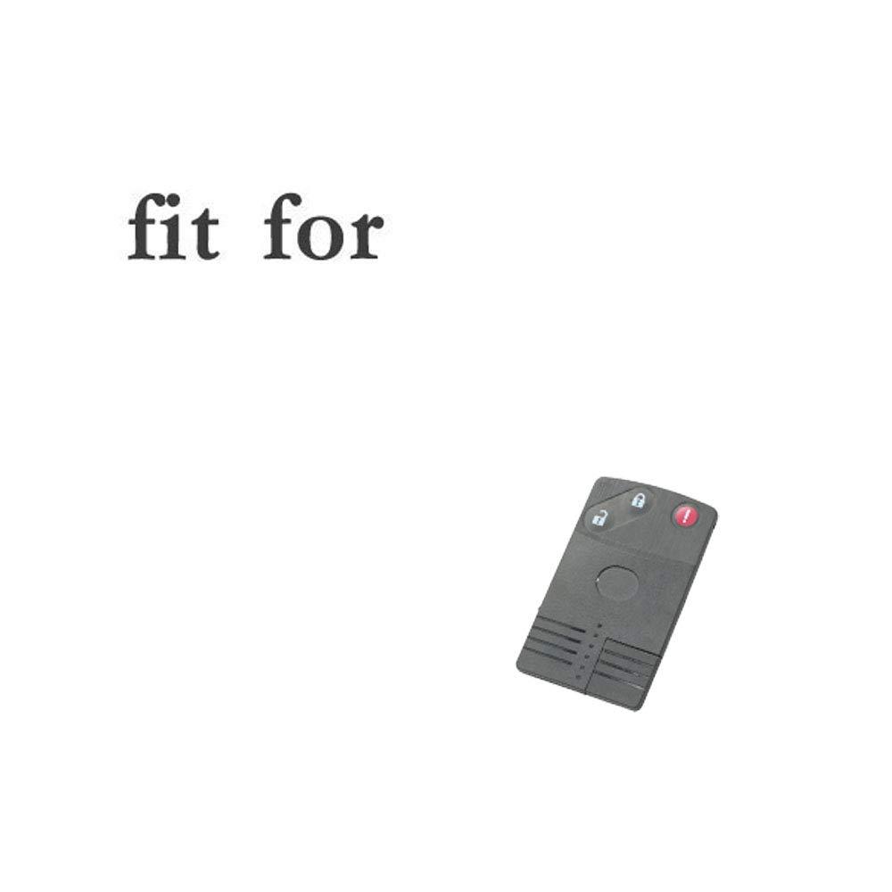 SEGADEN Silicone Cover Protector Case Skin Jacket fit for MAZDA 3 Button Smart Card Remote Key Fob CV4533 Black