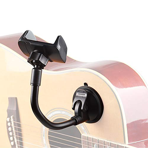 Mr.Power Smart Phone Smartphone Holder Mount Clip Suction Cup for Acoustic Electric Classical Guitar