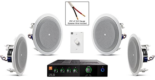 Click to buy JBL 8128 In-Ceiling Loudspeaker Bundle with JBL CSMA 180 Mixer Amplifier and Accessories - Restaurant Sound System (19 Items) - From only $799.99