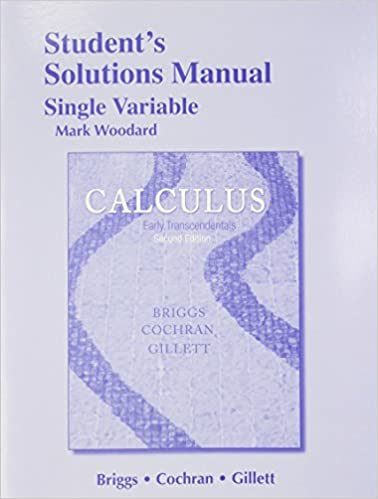 Calculus Early Transcendentals 2nd Edition Briggs Cochran Pdf