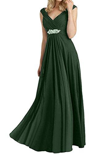 Braut Rock mia Chiffon Abendkleider Elegant Linie Gruen Lang Brautjungfernkleider 2018 La Neu Brautmutterkleider Dunkel Partykleider A OpqWw
