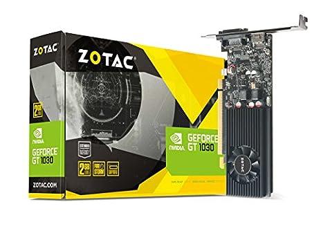 ZOTAC GeForce GT 1030 2GB GDDR5 64-bit PCIe 3.0 DirectX 12 HDCP Ready Low Profile Video Card - Pcie Vga Box