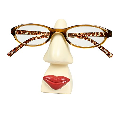 JewelryNanny Women are from Venus Nose Eyeglass Holder Stand for Desk Glasses Reading Glasses, Ivory