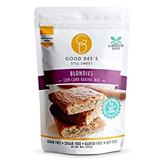 Good Dee's Blondie Brownie Mix – Low carb, Keto friendly, Sugar free, Gluten free, Grain Free, No Nuts, Sweetened Naturally, Atkins friendly, Diabetic friendly, WW Friendly, 1g Net carbs, 12 Servings