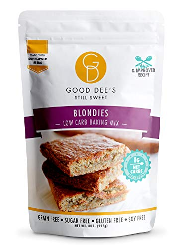 Good Dee's Blondie Brownie Mix – Low carb, Keto friendly, Sugar free, Gluten free, Grain Free, No Nuts, Sweetened Naturally, Atkins friendly, Diabetic friendly, WW Friendly, 1g Net carbs, 12 Servings 1