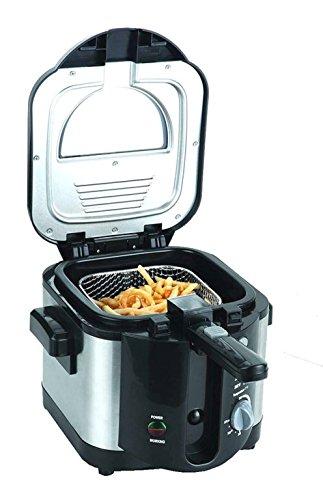 Kompakte Mini Fritteuse Edelstahl Friteuse sales by JOLTA® (Schwarz - 2 L)