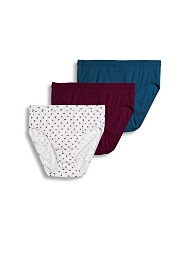 Cherry Blossom Panty - Jockey Women's Underwear Elance Breathe French Cut - 3 Pack, cherry blossom, 6