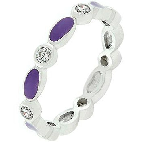 - WildKlass Purple Link Enamel Stacker Ring