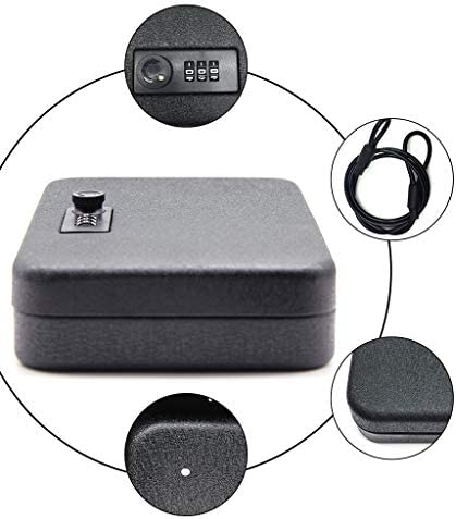 パーツボックス 安全ロータリーパスワードロック解除デザインのベッドルームナイト金庫ホームパスワード内閣ストレージジュエリーウォッチギフト (Color : Black, Size : 24*16.5*5.5cm)
