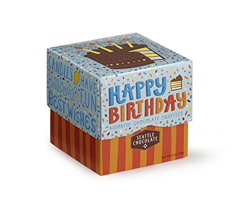 - Seattle Chocolates Gift Box, Happy Birthday, 6 Ounce