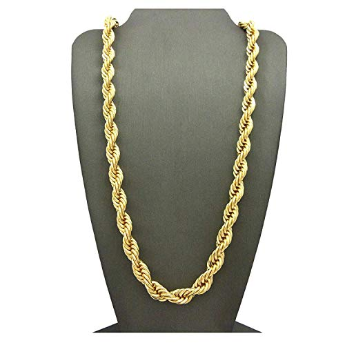 (Rope Chain 7MM 24K Diamond Cut Jewelry Necklaces Made to Wear Alone /W Pendants Guaranteed For Life (24))