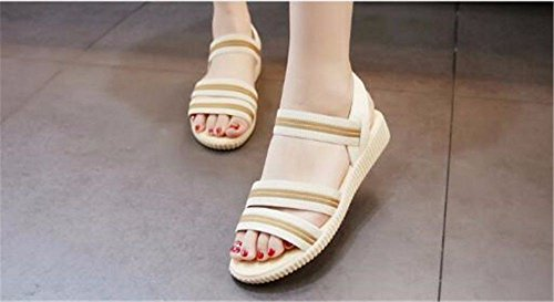 Estate Pantofole BTBTAV 40 Con Esterno Code European Bianco Codice Cool Una Antiscivolo Europeo Base 35 Piatta The Per White zdqSwrd