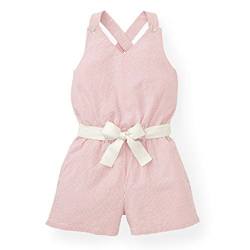 (Hope & Henry Girls' Pink Cross Back Romper)