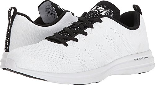 Athletic Propulsion Labs (APL) Men's Techloom Pro White/Black/White 9 D US (Name White Eyelet)