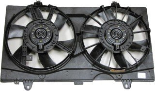 QP N6000-a Nissan Sentra Replacement AC A/C Condenser Radiator Cooling Fan/Shroud Assembly