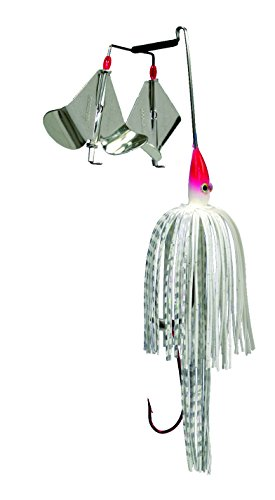 Strike King Premier Plus Buzzbait - The Double Take (Super White, 0.375-Ounce)
