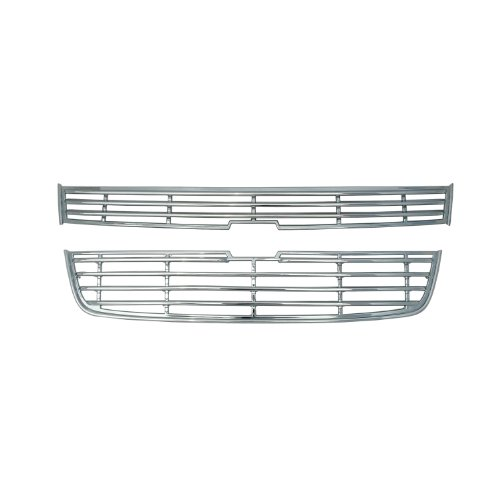 Bully  GI-19 Triple Chrome Plated ABS Snap-in Imposter Grille Overlay, 2 Piece