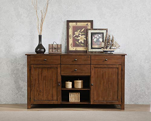 Amish Oak Buffet - Sunset Trading DLU-BR-SB-AM Simply Brook Sideboard Server, Amish Brown