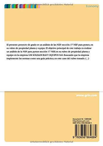La adopción de la sección 17 NIIF para Pymes en su rubro de propiedad planta y equipo a primero de Enero del año 2015 (Spanish Edition): Jerson Leandro ...