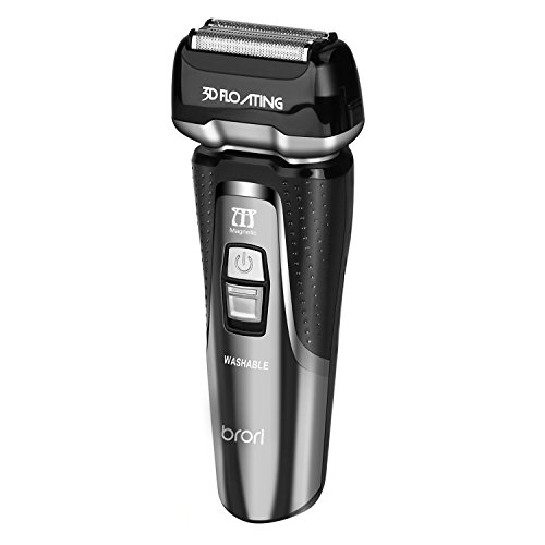 INSMART Electric Razor for men, Waterproof Wet/Dry USB Qiuck Rechargeable Cordless Electric Shaver with Led Display, Travel Lock & Pop Up Trimmer-Black