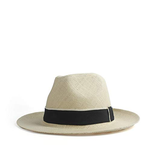 Women's Men's Straw Hat Sun Hat Female Wide-Brimmed Hat for Unisex Panama Beach Sun Hat Lounger Summer Hat Ms. Kentucky Derby Professional Cap Sun Hat Full Personality Sun hat ()