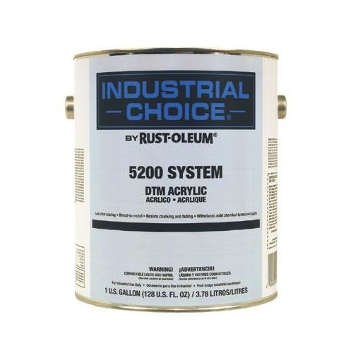 Rust-Oleum 5200 System < 250 Voc Dtm Acrylic, Gloss White, 5 Gallon Pail