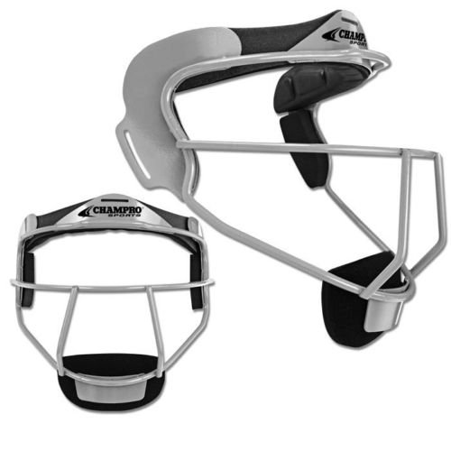(Champro the Grill Softball Fielders Mask - Silver - Adult)