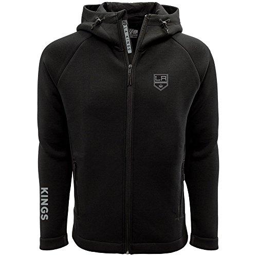 NHL Los Angeles Kings Adult Men Titan Insignia Bold Full Zip Hooded Jacket, X-Large, Black