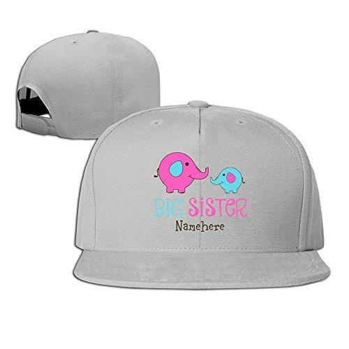 Runy Custom Big Sister Nanehere Adjustable Baseball Hat & Cap Ash