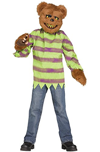 Teddy Bear Halloween Mask (Fun World Little Boy's Killer Bear Costume Childrens Costume, Multi,)