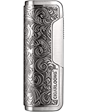 CIGARLOONG Cigar Lighter Carved Windproof Gas-Filled Portable Cigarette Lighter