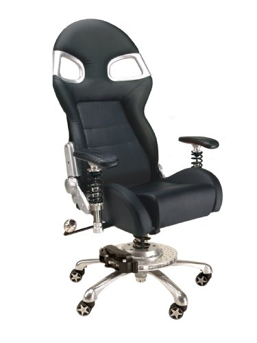 (PitStop Furniture F08000B LXE Office Chair, Black)
