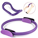 BlueStraw Pilates Ring Yoga Fitness Ring, 15 Inch Power Resistance Professional Full Body Toning Exercise Magic Circle with Zenring Home Training Yoga Ring, Dual Grip Fitness for Toning & Sculpting