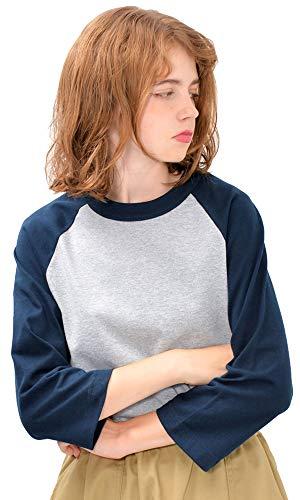 花束パイル十分です(ディーループ) D-LOOP ALSTYLE 6oz 7分袖 ラグラン Tシャツ 無地 レディース 厚手 カットソー 半袖 124235