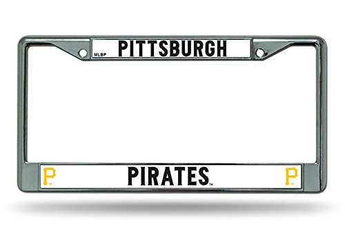 Pittsburgh Pirates New Des Chrome Frame Metal License Plate Tag Cover Baseball